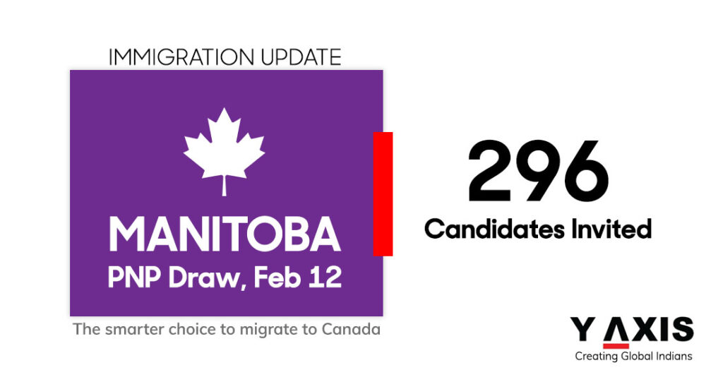 Immigration Update: Manitoba welcomes 296 for PR designation on February 12 MPNP draw.